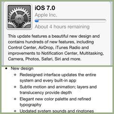 Downloading Apple iOS 7