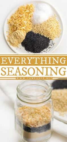 Everything seasoning is the perfect blend of poppy seeds, sesame seeds, onion flakes, garlic powder, and sea salt! You can add this easy seasoning to your fried eggs, sprinkle some on a snack mix, use it as a rub for a meat roast, or even add some to your bread dough before baking it. Save this pin! Hamburger Seasoning, Homemade Ranch Seasoning, Ranch Seasoning Mix, Homemade Seasonings, Blackened Seasoning, I Am Baker, Fried Eggs, Everything Bagel, Roasted Vegetables