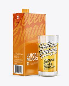 Free PSD Mockup Carton Pack With Orange Juice Glass Mockup - Halfside View Object Mockups Envato Elements Free Mockups Organic Smoothies, Imac Apple, Free Mockup Templates, Chocolate Milkshake, Box Mockup, How To Make Logo, Packaging, Orange Juice, Macbook