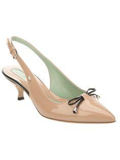 Nude kitten heels @Barbara Braga Teala likes these, too.