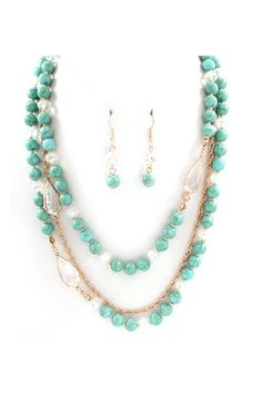 Isabelle Necklace in Crystal