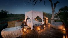 Tinyeleti Treehouse, Lion Sands - SOUTH AFRICA. Tinyeleti Treehouse is located in big game country on the Sabie River, within the Greater Kruger region.