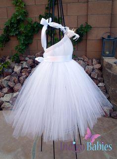 Weddings Flower Girl Dress Tutu Dress Birthday by indigobabies, $65.00