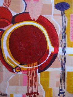 "Saatchi Art Artist Sina Muscarina; Painting, ""Lago Rosso"" #art sinamuscarina Saatchi Art, Original Paintings, The Originals, Canvas, Artist, Tela, Artists, Canvases, Amen"