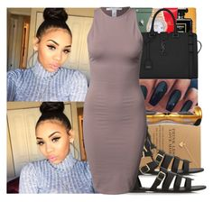 """""""On my way to a photoshoot, I can't wait to take photos * squeals *-Aleeyah"""" by swagger-on-point-747 ❤ liked on Polyvore featuring Rolex, Dogeared, Yves Saint Laurent, Forever 21 and NLY Trend"""
