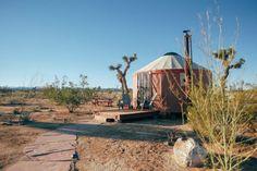 23 Best Glamping in California (2021) 35 Luxury Yurt, Indoor Outdoor Bathroom, Desert Location, Bouldering Wall, Yucca Valley, Los Angeles Neighborhoods, Shade Structure, Cornhole Set, Urban Farming