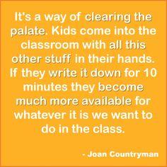 #Journaling #Classroom