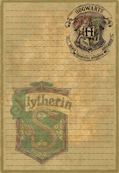 Slytherin Stationery Option1 by Sinome-Rae.deviantart.com on @DeviantArt