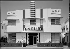 This wonderful Art Deco building still stands in Miami.
