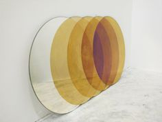circular transience mirror by Lex Pott and David Derksen Deco Design, Art Design, Graphic Design, Interior Design, Home And Deco, Decoration, Different Colors, Table Lamp, House