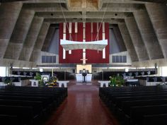 St. John's Abbey Church - Collegeville, Minnesota, USA / 1953-61 / Marcel Breuer