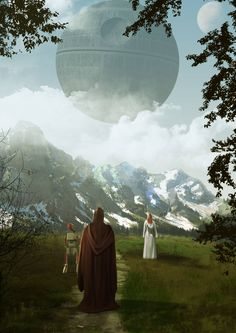 ArtStation - last seconds of Alderaan, col price Star Wars Film, Star Wars Art, Sci Fi City, Star Wars Episode Iv, War Comics, Wallpaper Space, Graphic Artwork, World Of Books, Star Wars