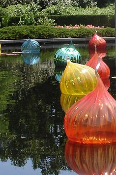 I love Dale Chihuly.  I saw these in St. Louis with his Glass in the Garden exhibit.