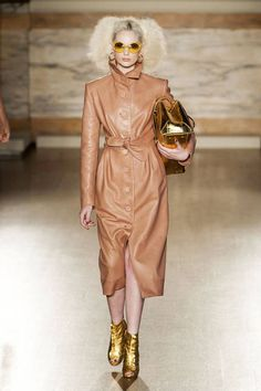 Reem Acra Fall 2013 Leather Jumpsuit Runway - Fall 2013 Trends Leather - ELLE