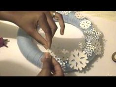 How to Make a Yarn Wrapped Winter Wreath