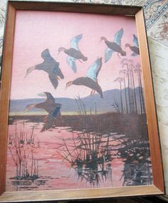 Ducks by M. Grumbacher 'Academy' Canvas Panel Made by VistaChick