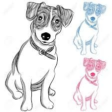 Image result for brown and white jack russell terrier sleeping drawings