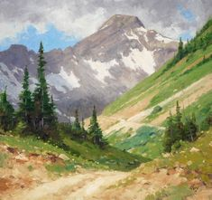 Landscape painting by Ralph Oberg: