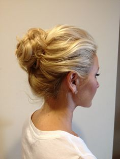 Pretty bun! I so want to be able to pull this off for work and casual Sundays