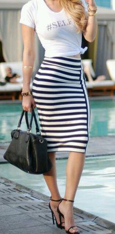 Striped skirt #skirt