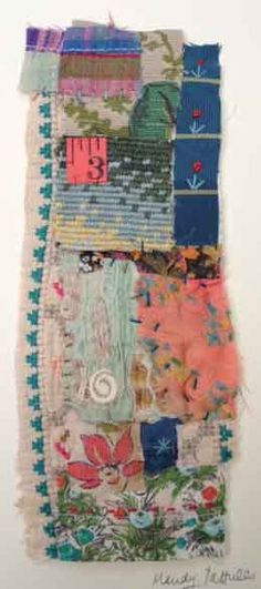 Textile Collage Strippy unframed by MandyPattullo on Etsy