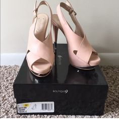 Boutique 9 platforms Platforms with 5 inch heel. Worn only once. Excellent condition. Peep toe Boutique 9 Shoes Platforms
