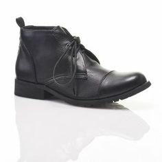 Bucco Women's Lace Up Ankle Combat Bootie: Black/Size 8.5--Buy Them Now for only $8, or find more at www.uBid.com!