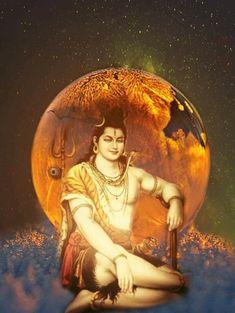 Lord Shiva Pics, Lord Shiva Family, Lord Krishna Images, Shiva Art, Shiva Shakti, Hindu Art, Durga Goddess, Durga Maa, Hanuman