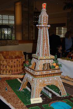 gingerbread house, Paris, Eiffel Tower
