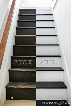 Black and White Painted Stairs - Maison de Pax http://qoo.ly/d3y9c