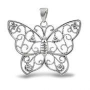 Cubic Zirconia Jewelry Filigree Butterfly Pendant Cubic Zirconia 925 Sterling Silver - Measure: x Weight: Grams Material: Sterling Silver, Cubic Zirconia, Rhodium Plating Jewellery Uk, Bling Jewelry, Pendant Jewelry, Jewelery, Chain Jewelry, Crystal Jewelry, Jewelry Necklaces, Fashion Jewelry, Butterfly Jewelry
