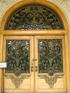 "Golestan Palace, Tehran, Iran. These doors open to a stairway that leads to the Royal audience hall called ""Taalaar-e Salaam"". This is the place where Shah Mohammad Reza Pahlavi crowned himself in 1967."