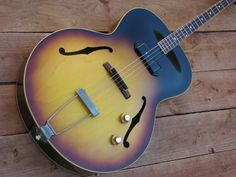 Oh my!  1960 Gibson ETG-150 Vintage Electric Tenor Acoustic Guitar | eBay