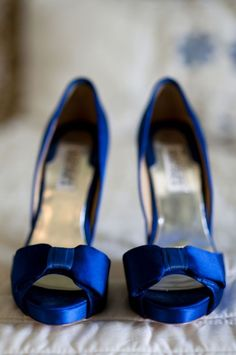 cobalt blue wedding shoes : Badgley Mischka wedding shoes