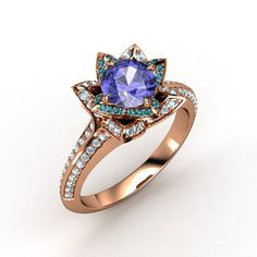 The Brilliant Lotus Ring
