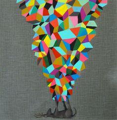 "MASAKO MIKI amnesia series / pile of hope . 9"" x 9"" . acrylic on paper"