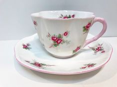 Shelley Tea Cup and Saucer, Bridal Rose Pattern, Shelley Tea Cups, English China Tea Cups, Shelley China, Antique Tea Cups Vintage