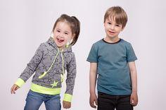DIY Tutorial für ein Kinder Shirt zum selber Nähen. Mit Raglanärmeln, Kapuze aus Sweat oder Jersey - auch für Nähanfänger geeignet.