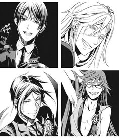 Vincent, Undertaker, Sebastian and Grell