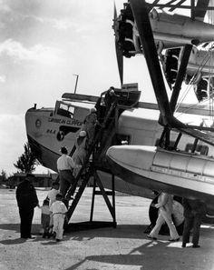 Passengers boarding a Sikorsky S-40 plane, Miami, Fl, 1931. Florida Memory.