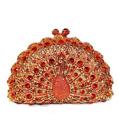 Crystal Peacock Clutch Evening Bag