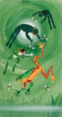 Richard Scarry frogs - grenouilles