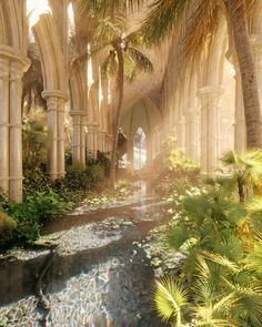 Fantasy Places, Fantasy World, Beautiful Places, Beautiful Pictures, Summer Paradise, Nature Aesthetic, Fantasy Landscape, Hades, Architecture