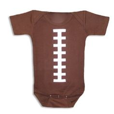 Amazon.com: Bambino Balls Short Sleeve Football Outfit Brown and White: Clothing
