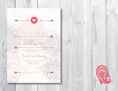 Gender Reveal Invitation by Paisley Prints now Available on ETSY for $20.00. I Customize, You Print!