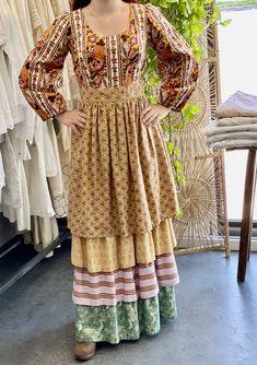 70s Fashion, Vintage Fashion, Fashion Outfits, Vintage Dresses, Vintage Outfits, Vintage Clothing, Prarie Dress, Mexican Dresses, Buy Dress