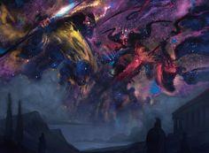 Starfield of Nyx MtG Art from Magic Origins Set by Tyler Jacobson High Fantasy, Fantasy World, Nyx, Angel Demon, Astral Plane, Mtg Art, Rpg World, Fantasy Places, Fantasy Monster