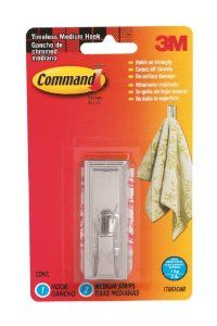 3m Command Timeless Medium Plastic Hook With Metalic Chrome Finish By 3m 3 99 From The Manufacturer 3m With Images Plastic Hooks Adhesives Chrome Finish