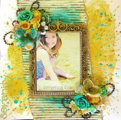 Mixed Media Shimmery Scrapbooking Inspiration with Amy Prior