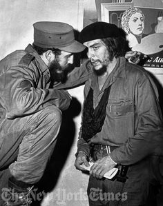 Fidel Castro and Che Guevara - 1959 Turned Cuba into a communist country